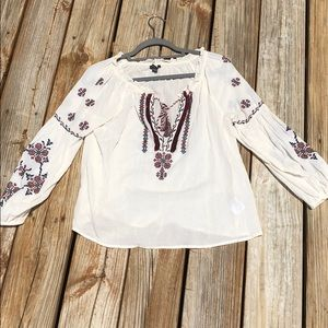 American Eagle Flowy Embroidered Top -Out of Stock